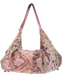 Simone Camille Moon Patterned Bag - Pink