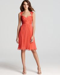 Amsale - Short Dress Cap Sleeve Sweetheart - Lyst