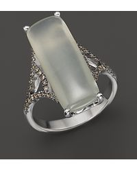 Badgley Mischka | Grey Moonstone And Brown Diamond Ring | Lyst