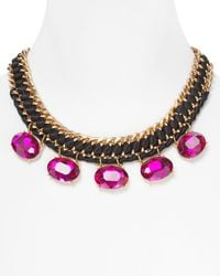 Cara Accessories Embellished Ribbon Necklace 17 - Lyst