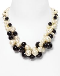 Carolee Bold Cluster Pearl Necklace 19 - White