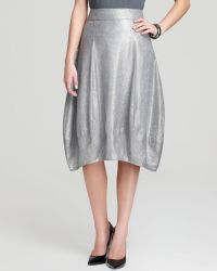 Eileen Fisher Lantern Skirt - Metallic