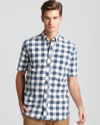 Fred Perry Homespun Gingham Short Sleeve Sport Shirt Classic Fit - Lyst