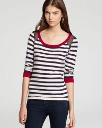 Jamison - Quotation Sweater Gian Striped Silk Back - Lyst
