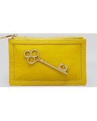 Jonathan Adler Coin Purse Key Leather - Lyst