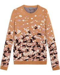 Mulberry Floral Jacquard Jumper - Lyst
