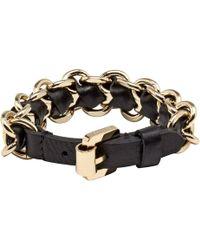 Mulberry Black Chain Bracelet - Lyst