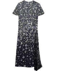 Mulberry Pleat Side Dress - Blue