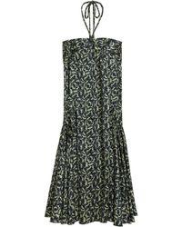 Mulberry Pleat Pocket Dress - Multicolour