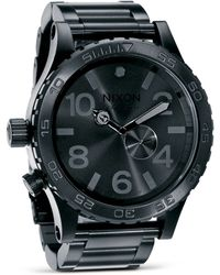 Nixon The 51 - 30 Chronograph Watch - Black