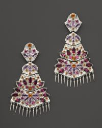 Paul Morelli | Applique Quad Dangle Earrings With Rhodolite, Amethyst And Madeira Citrine | Lyst