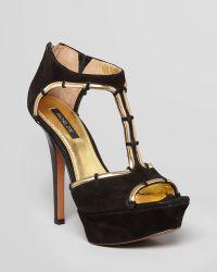 Rachel Zoe Open Toe Platform Sandals Debbi High Heel - Lyst