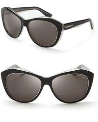 Rebecca Minkoff Leonard Oversize Geometric Sunglasses - Black