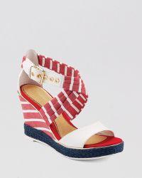 Sperry Top-Sider - Open Toe Platform Wedge Sandals Aurora - Lyst