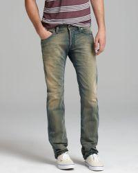 Diesel Jeans Safado Slim Straight Fit in Army - Lyst
