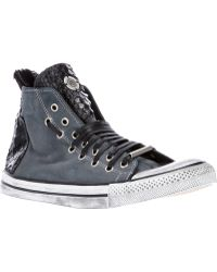 Black Dioniso - Python and Canvas Sneaker - Lyst