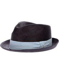 Jacob Cohen - Contrast Narrow Brim Hat - Lyst