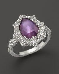 Judith Ripka Bright Nite Small Pear Stone Ring - Lyst