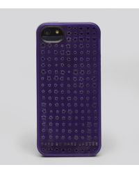 Marc By Marc Jacobs Iphone 5 Case Perforated Stars - Purple