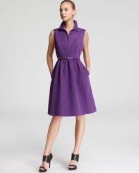 Max Mara Studio Purple Calate Dress - Lyst