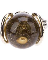 Nina Ricci Metallic Bead Ring