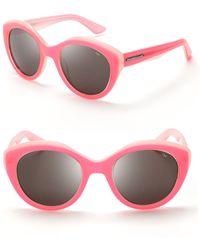 Rebecca Minkoff Union Geometric Cateye Sunglasses - Pink