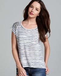 Two By Vince Camuto - Painted Stripe Burnout Tee - Lyst