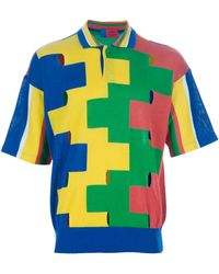 Emanuel Ungaro - Colour Block Polo Shirt - Lyst