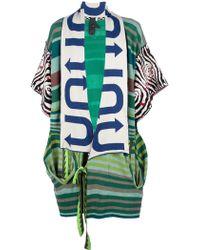 Bernhard Willhelm - Border Kimono Sleeve Knit Big Collar - Lyst