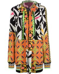 Bernhard Willhelm - Geometric Patterned Knit Parka - Lyst