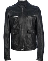 DSquared² Classic Leather Jacket - Lyst
