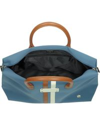 La Bagagerie - Shopnlab Fabric and Leather Tote - Lyst