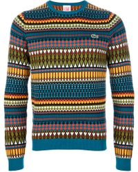 Lacoste L!ive - Patterned Sweater - Lyst