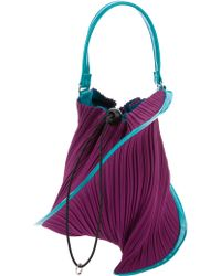 Pleats Please Issey Miyake Pleated Pouch Bag - Blue