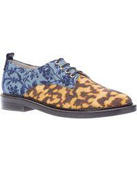 B Store - Floral Lace Up Shoe - Lyst