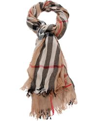 Burberry Brit - Signature Check Scarf - Lyst