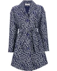 Cacharel - Printed Trench Coat - Lyst