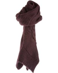 Carven Knitted Scarf - Purple