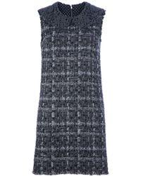 Dolce & Gabbana Tweed Shift Dress - Lyst
