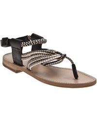 Hache - Roped Ankle Sandal - Lyst