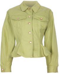 Jean Paul Gaultier Denim Skirt Suit - Yellow