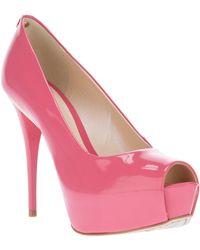 Jorge Bischoff Peep Toe Pump - Pink