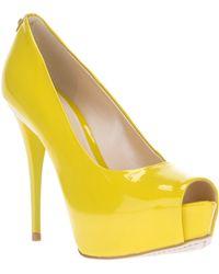 Jorge Bischoff Platform Pump - Yellow