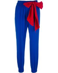 RED Valentino Bow Detail Cropped Trouser - Blue