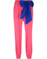 RED Valentino Bow Detail Relaxed Trouser - Pink