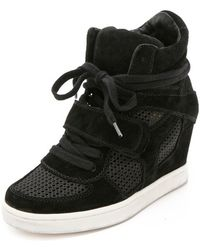 Ash Cool Wedge Sneakers with Mesh Insets - Lyst