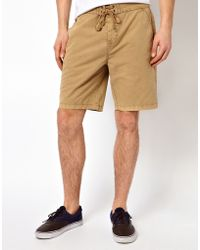 ASOS Chino Board Shorts - Brown