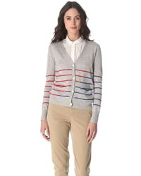 Band of Outsiders - Striped Cardigan - Lyst