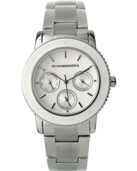 BCBGMAXAZRIA - Bcbg Ladies Chunky Metal Watch with Multi Function Dial - Lyst