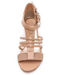 Belle By Sigerson Morrison - Alma Low Wedge Sandals - Lyst